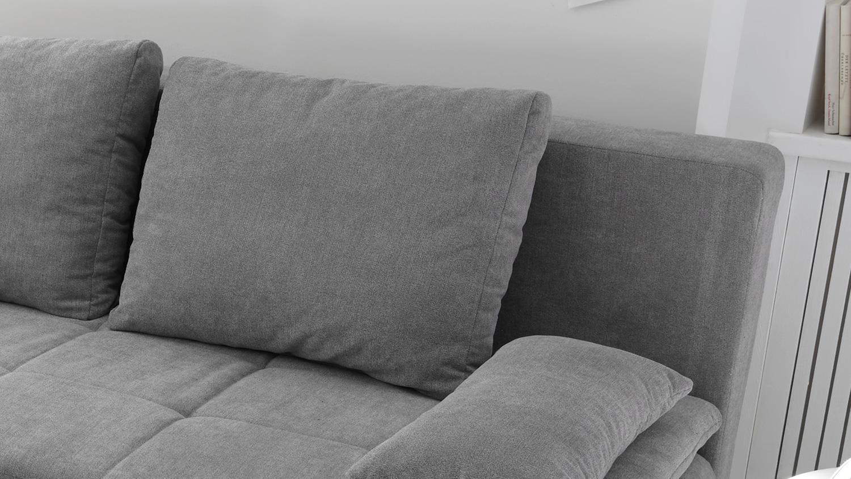 schlafsofa luigi dauerschl fer in stoff schlamm federkern inkl topper. Black Bedroom Furniture Sets. Home Design Ideas