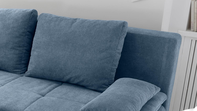schlafsofa luigi dauerschl fer stoff denim blau federkern inkl topper. Black Bedroom Furniture Sets. Home Design Ideas