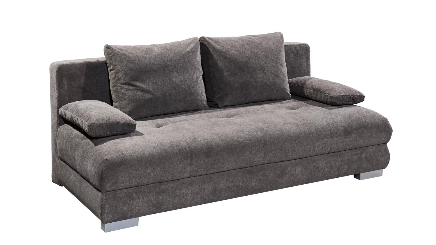 Schlafcouch federkern cheap schlafsofa schwarzgrau with for Schlafsofa new york