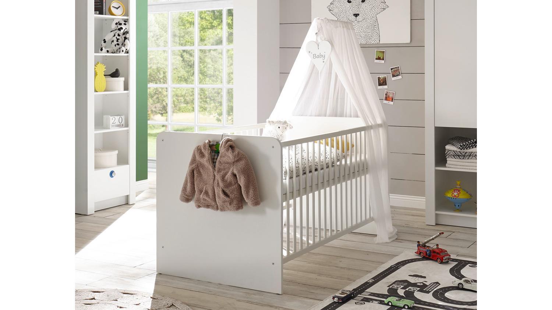 babybett paula bett kinderbett gitterbett in wei 70x140 cm. Black Bedroom Furniture Sets. Home Design Ideas