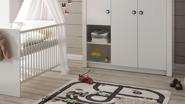 babyzimmer paula komplett set kinderzimmer babym bel wei. Black Bedroom Furniture Sets. Home Design Ideas