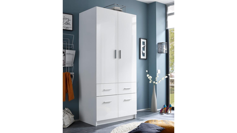kleiderschrank hagen dreht renschrank 2 t rig wei hochglanz 90 cm. Black Bedroom Furniture Sets. Home Design Ideas