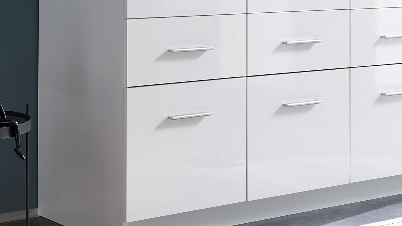 kleiderschrank hagen dreht renschrank 3 t rig wei hochglanz 135 cm. Black Bedroom Furniture Sets. Home Design Ideas