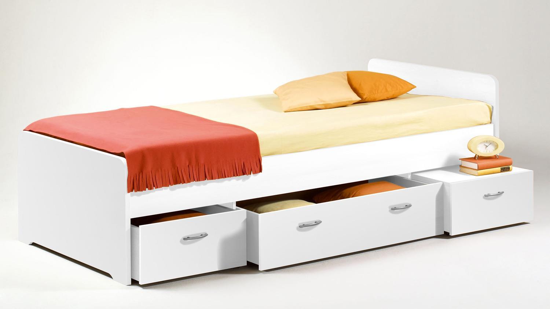 Kojen Bett Boro Jugendbett Kinderbett Funktionsbett In Weiss 90x200 Cm