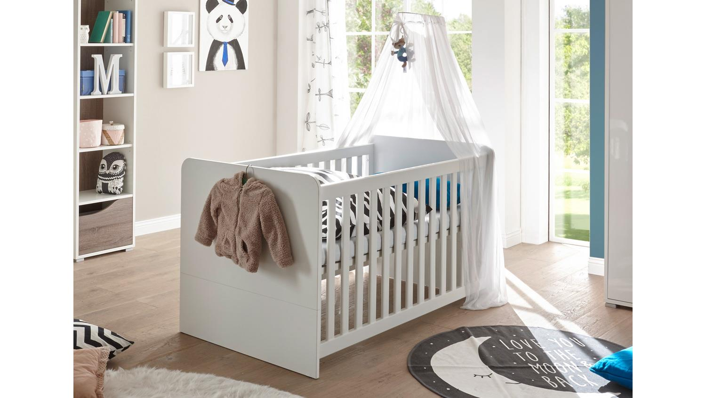 babybett marra kinderbett gitterbett wei mit. Black Bedroom Furniture Sets. Home Design Ideas
