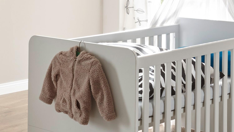 Babybett MARRA Kinderbett Gitterbett Weiß Mit