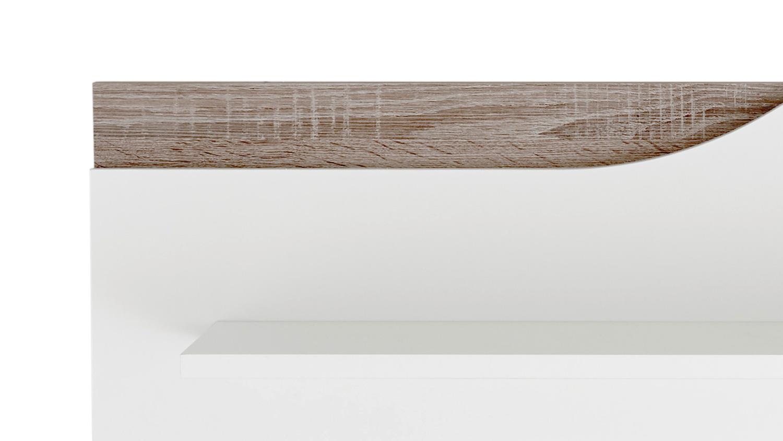 wandboard marra regal wandregal in wei und eiche sonoma. Black Bedroom Furniture Sets. Home Design Ideas