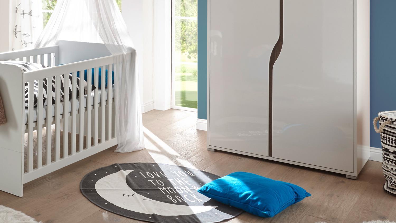 babyzimmer 2 marra 3 teilig wei hochglanz schrank 2 t rig. Black Bedroom Furniture Sets. Home Design Ideas
