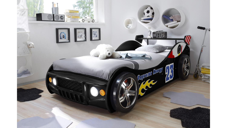 Autobett Energy Mdf Kinderbett Bett Schwarz Lackiert Inkl