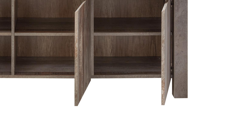 Sideboard MOON RIO Schlafzimmer Kommode Anrichte 3-türig Driftwood