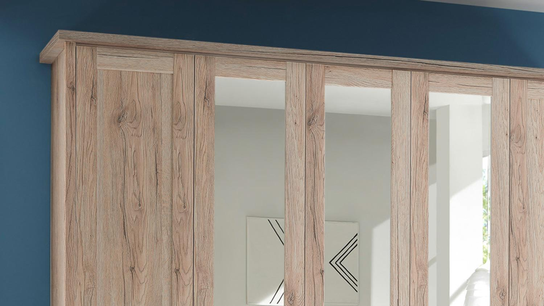 schlafzimmer luca komplett set eiche san remo inkl spiegel 4 teilig. Black Bedroom Furniture Sets. Home Design Ideas