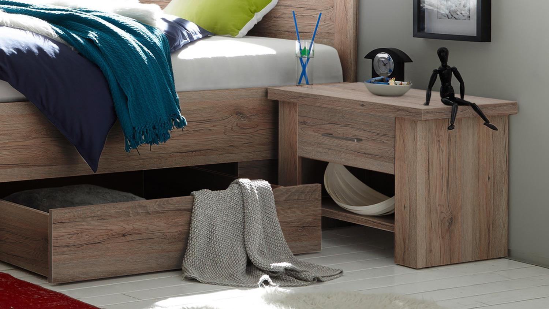 Schlafzimmer luca komplett set eiche san remo inkl - Komplett schlafzimmer luca ...