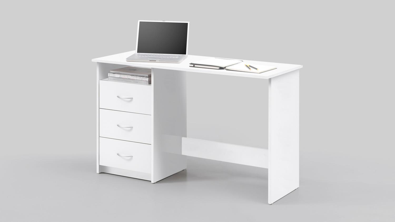 schreibtisch adria computertisch b rotisch pc tisch wei 120x50 cm. Black Bedroom Furniture Sets. Home Design Ideas