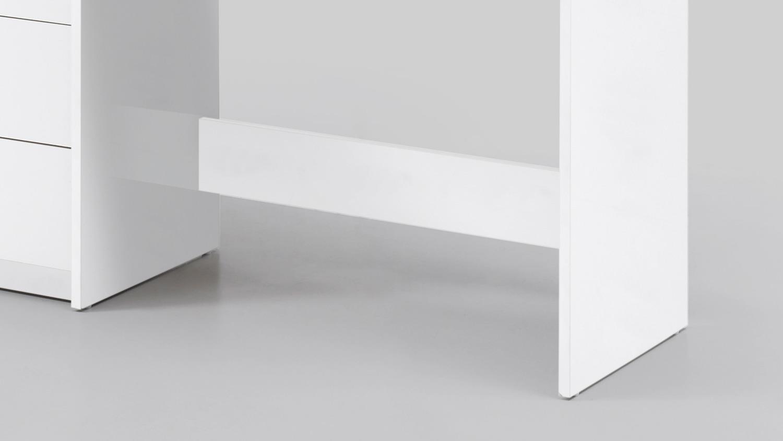 Schreibtisch Adria Computertisch Bürotisch Pc Tisch Weiß 120x50 Cm