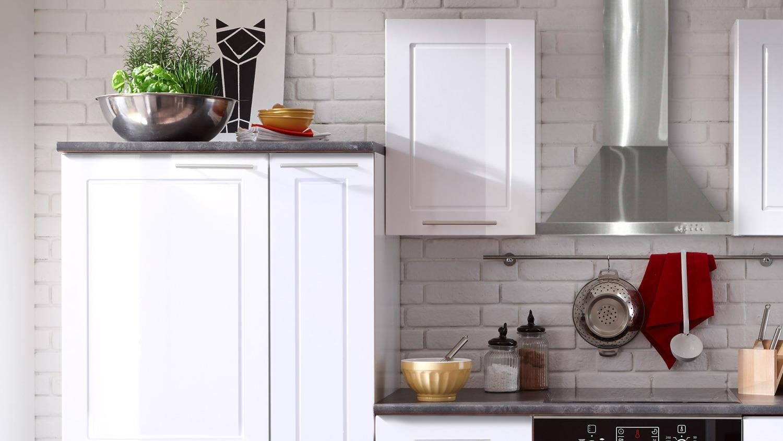 Küche WELCOME Küchenzeile in weiß Hochglanz und Matt mit ...