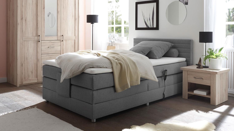 boxspringbett carmen 1 bett stoff grau mit ttfk topper. Black Bedroom Furniture Sets. Home Design Ideas