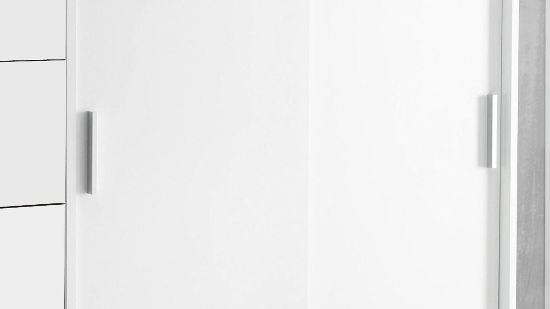 Schrankkommode Liora 2 Turig Weiss Inkl Kleiderstange