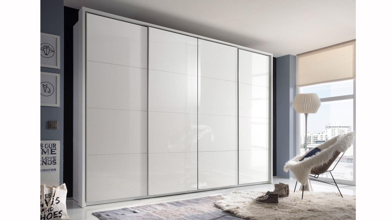 schwebet renschrank sky 4 hochglanz wei 410 cm. Black Bedroom Furniture Sets. Home Design Ideas