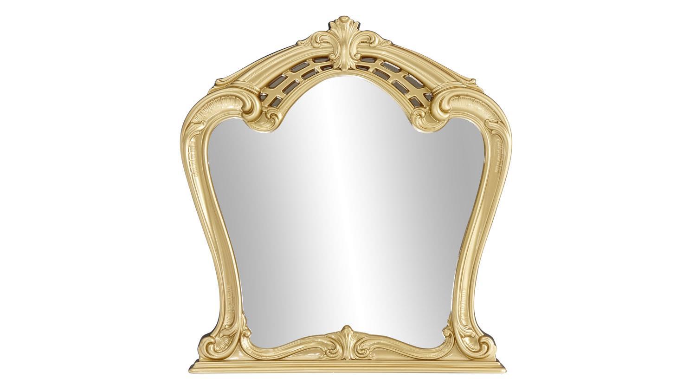 kommode mit spiegel claudia wei lack gold barock stil. Black Bedroom Furniture Sets. Home Design Ideas