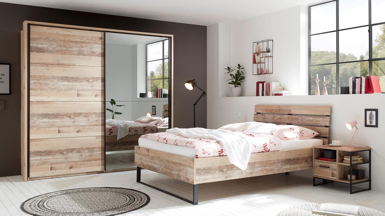 Jugendzimmer Schlafzimmer ROOF 3-tlg. Old Style Bett 140 x 200