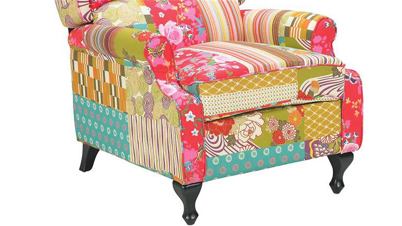 patchwork sessel armlehnsessel polstersessel ohrensessel. Black Bedroom Furniture Sets. Home Design Ideas