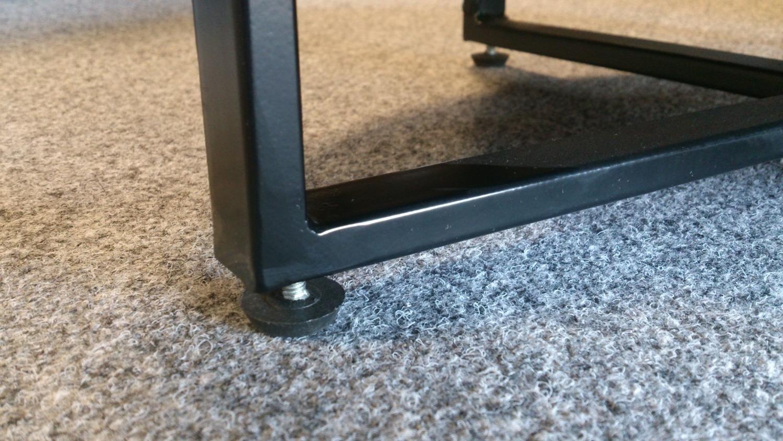 beistelltisch mit glasplatte und uhr vintage braun eschefurnier. Black Bedroom Furniture Sets. Home Design Ideas