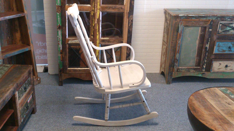 schaukelstuhl vintage wei vollholz stuhl klassisches design. Black Bedroom Furniture Sets. Home Design Ideas