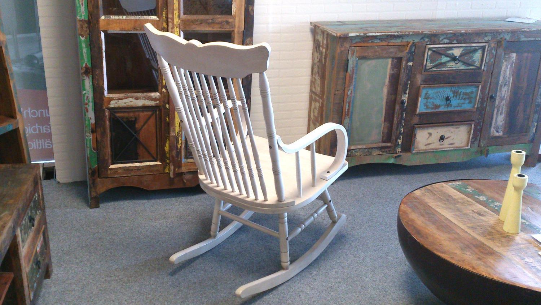 Schaukelstuhl Vintage vintage weiß vollholz stuhl klassisches design