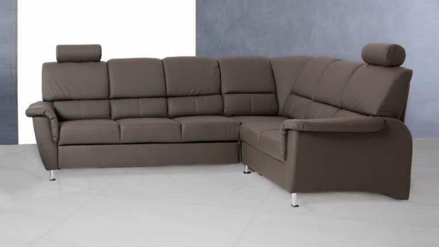 Ecksofa pisa sofa in dunkelgrau mit bettfunktion for Sofa mit bettfunktion