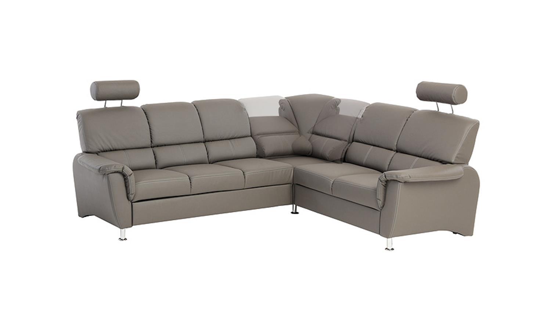Ecksofa pisa sofa in dunkelgrau mit bettfunktion for Ecksofa mit bettfunktion