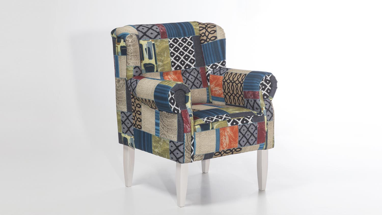 sessel moro stoff patchwork polstersessel federkern. Black Bedroom Furniture Sets. Home Design Ideas