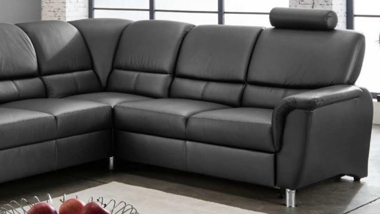 ecksofa pisa in schwarz mit relaxfunktion 268x221. Black Bedroom Furniture Sets. Home Design Ideas