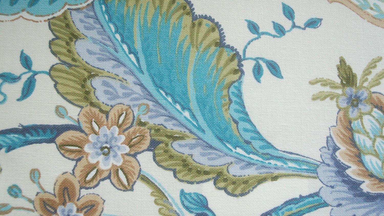 Eckbankgruppe weiß blau  ANTONI Eckbank in Stoff blau und weiß Blumenmuster