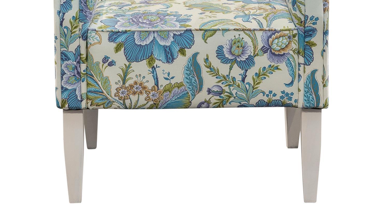 sessel antoni k che in stoff blau und wei blumenmuster. Black Bedroom Furniture Sets. Home Design Ideas