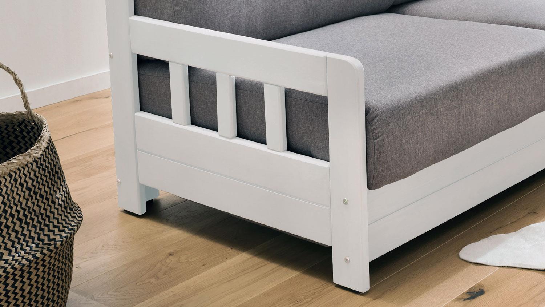 schlafsofa 1 kampus sofa 2 sitzer stoff hellgrau. Black Bedroom Furniture Sets. Home Design Ideas