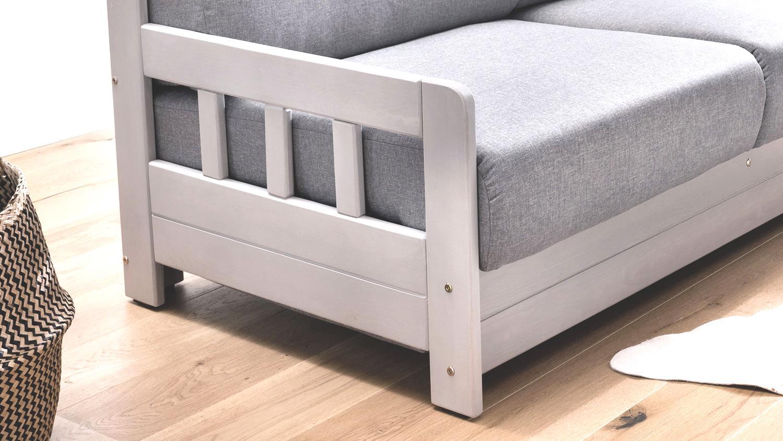schlafsofa 2 kampus sofa 2 sitzer stoff hellgrau. Black Bedroom Furniture Sets. Home Design Ideas