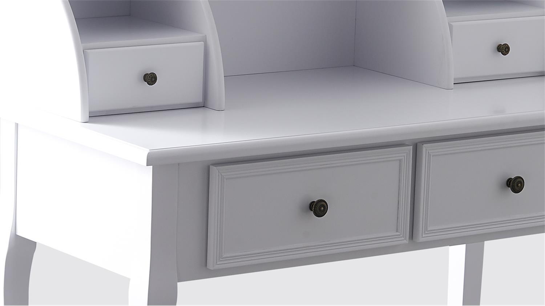 sekret r paolo wei landhaus beine pinie wei 4 schubk sten. Black Bedroom Furniture Sets. Home Design Ideas