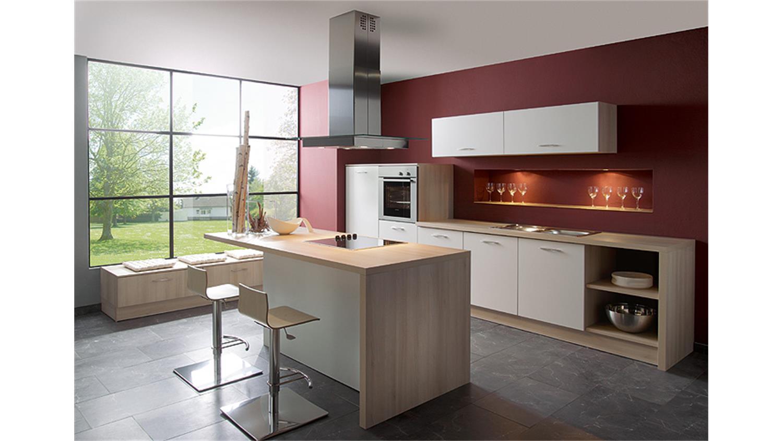Einbaukuche brigitte kuche l kuche mit vielen farben 028 for Küchenblock mit ger ten