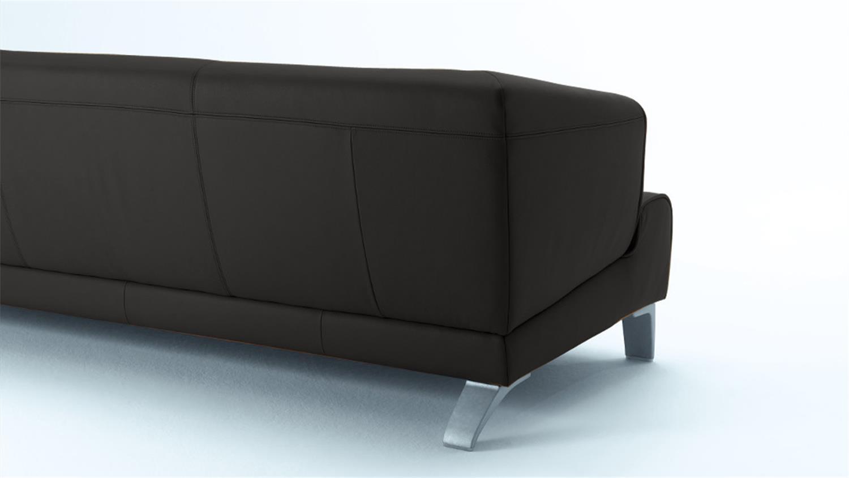 rolf benz sofabank sob 2300 leder schwarz 2 sitzer 174 cm breit. Black Bedroom Furniture Sets. Home Design Ideas