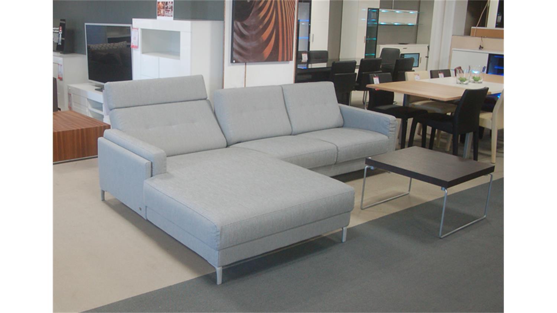 rolf benz ecksofa pronto links stoff hellgrau. Black Bedroom Furniture Sets. Home Design Ideas