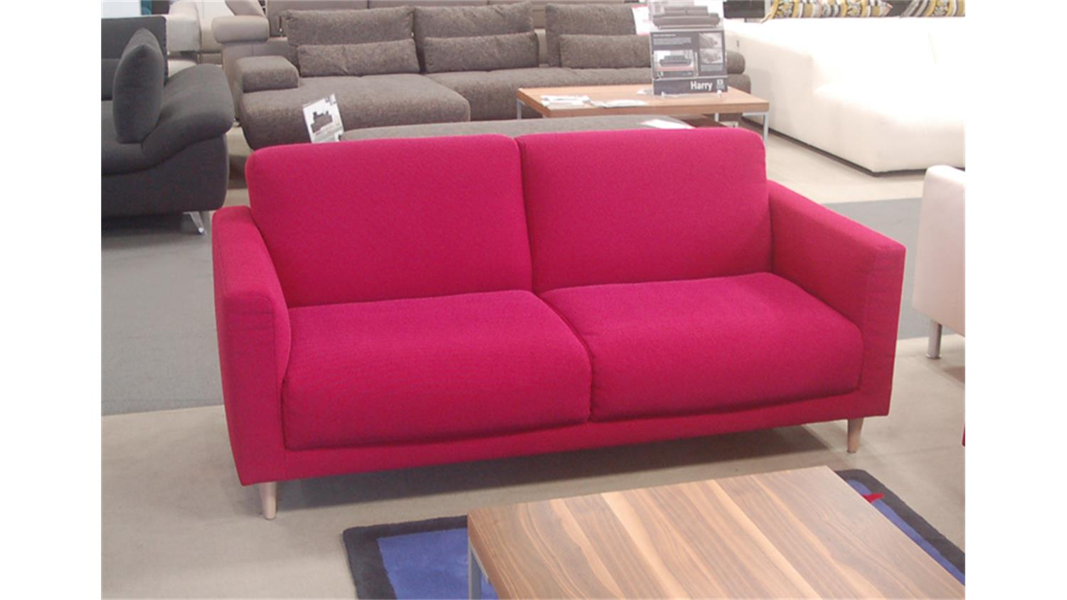 rolf benz sofa freistil 141 stoff violettrot. Black Bedroom Furniture Sets. Home Design Ideas