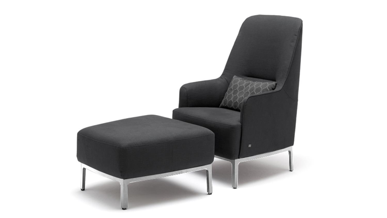 hochlehnsessel hse 366 sessel von rolf benz in dunkelgrau. Black Bedroom Furniture Sets. Home Design Ideas