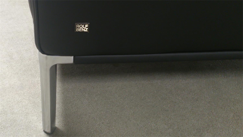 sofabank scala 505 von rolf benz in schwarzem echtleder. Black Bedroom Furniture Sets. Home Design Ideas