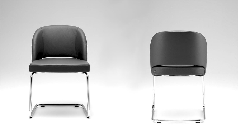 rolf benz stuhl stu 628 freischwinger leder schwarz. Black Bedroom Furniture Sets. Home Design Ideas