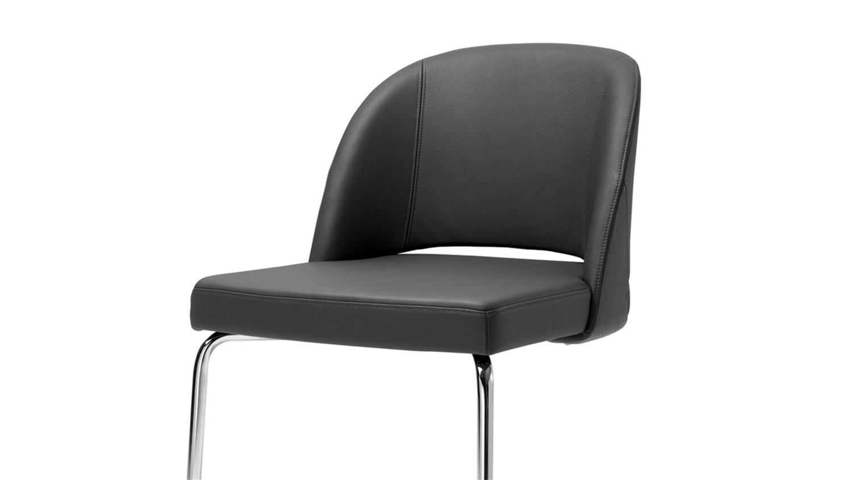 freischwinger esszimmerstuhl rolf benz stuhl stu 628 leder schwarz. Black Bedroom Furniture Sets. Home Design Ideas