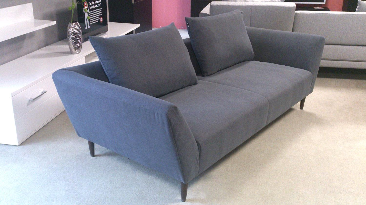 sofa freistil 176 rolf benz sofabank stoff grahpitgrau 2 kissen. Black Bedroom Furniture Sets. Home Design Ideas