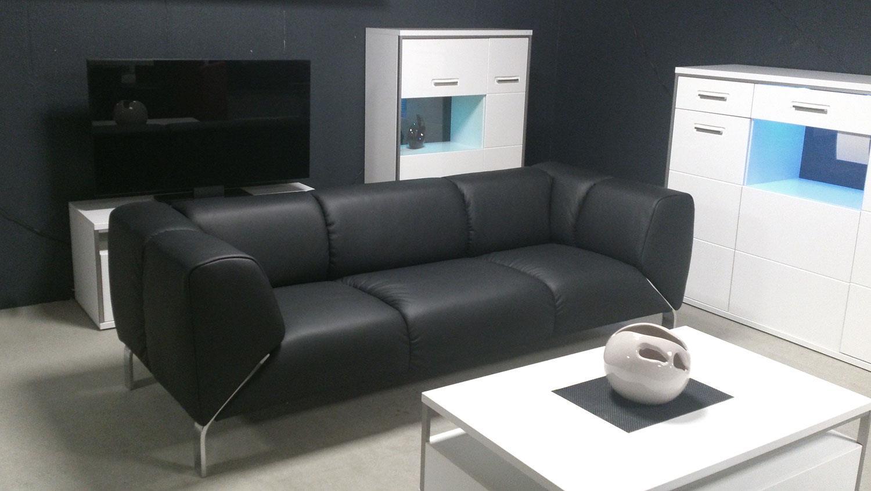 Nice Einfache Dekoration Und Mobel Rolf Benz Neo Sofa #9: Sofa SOB 323 ROLF BENZ Sofabank Leder Schwarz