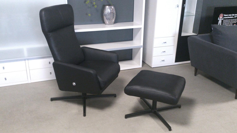 hocker rolf benz hck 560 echtleder schwarz. Black Bedroom Furniture Sets. Home Design Ideas