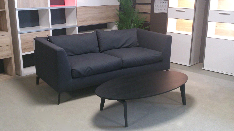 sofa freistil 165 rolf benz sofabank flachgewebe schwarzgrau. Black Bedroom Furniture Sets. Home Design Ideas