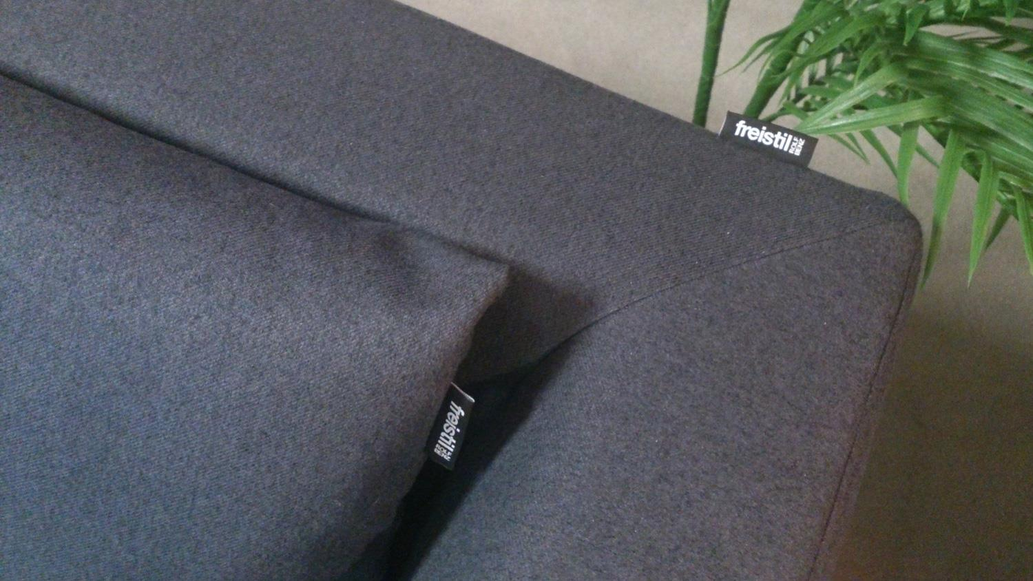 freistil 165 rolf benz ecksofa rechts flachgewebe schwarzgrau. Black Bedroom Furniture Sets. Home Design Ideas